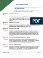 Potential Veto List 2009 Gov Lingle