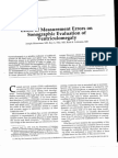 Effect of Measurement Errors on Sonographic Evaluation of Ventriculomegaly 1991