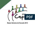 Bases Semana Escuela Ceps 2013