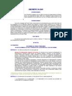 decreto 29-2001 del congreso