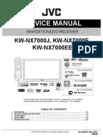 Jvc Kw-nx7000 Series Navigation Dvd Receiver Sm