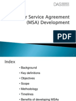 Master Service Level Agreement Overview