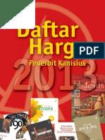 Daftar Harga Buku Gerejawi 2013