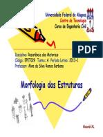 1 - Morfologia Das Estruturas [Modo de Compatibilidade]