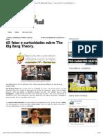65 Fatos e Curiosidades Sobre the Big Bang Theory