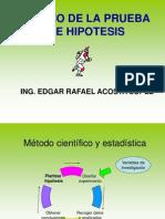 CLASE 10 DISEÑO DE LA PRUEBA DE HPOTESIS