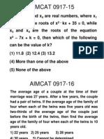 Aimcat - Equations