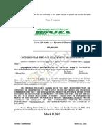 GreenTech Automotive Confidential Private Placement Memorandum