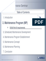 Scheduled Maintenance Program Seminar - 2. Maintenance Program