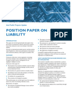 Position Paper on Liability for Breach of Contract
