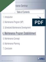 Scheduled Maintenance Program Seminar - 4. Maintenance Program Establishment-Part1