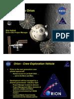 NASA Orion Crew Exploration Vehicle - 2007