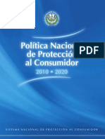 Politicas de La Defensoria Del Consumidor