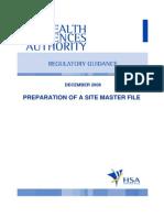 GUIDE-MQA-001-008 (Preparation of a Site Master File)