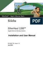 Siklu EH-1200 Install & User Manual - EH-InSTL-03_Issue1 (Jan2013)