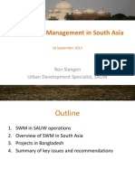 Solid Waste Management in South Asia