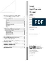 2013 Scrap Specifications Circular