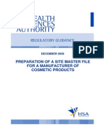 GUIDE-MQA-018-005 (Preparation of a Site Master File for a Manufacturer of Cosmetic Products)