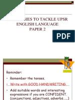 Strategies on English Paper 2