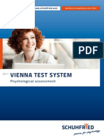 Vienna Test System 2011 en Catalog SCHUHFRIED