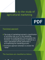 Approaches to the Study of Agricultural Marketing