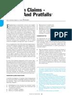 Variation Claims-pitfalls & Pratfalls
