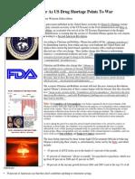 Insider News - 1393 - Revolution Warned Near as US Drug Shortage Points to War