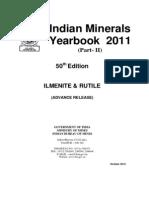 India Mineral Yearbook 2011 - Ilmenite Rutile