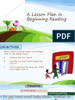 A Lesson Plan in Beginning Reading-Presentation