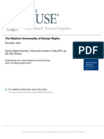 Donnelly (2007), 'the Relative Universality of Human Rights'