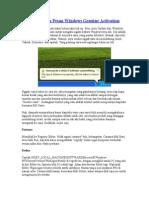 Menghilangkan Pesan Windows Genuine