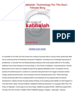 The Power of Kabbalah Technology for the Soul Yehuda Berg