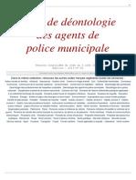 Deontologie Police Municipale