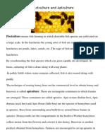Pisciculture and Apiculture