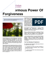 The Enormous Power of Forgiveness
