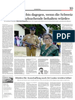 My first ever story in Switzerland - the interview with Mr Mahinda Rajapaksa president of Sri Lanka in the Sonntagszeitung, Sunday, Sept 22, 2013