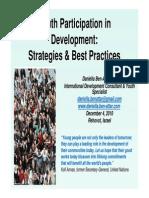 Youth Participation for Development Daniela Ben Attar