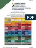 Maryland Metrics RAL Color Chart