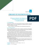 Appendix 1-Proofs in Mathematics