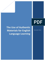 The Use of Authentic Materials for English Language Learning