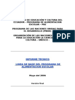 Evaluacion Programa de Alimentacion Escolar