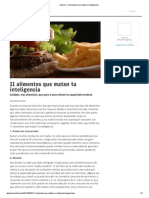 11 Alimentos q Matan La Inteligencia