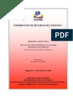 Memoria Explicativa Mapa Recursos Minerales Colombia Minerales Industriales