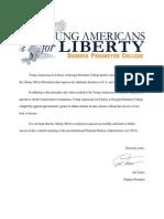 YAL of Georgia Perimiter College Supports Albany, NY Anti-NDAA Resolution