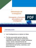 2 Concepción y formulación del problema de investigación