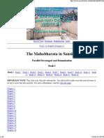 The Mahabharata in Sanskrit..