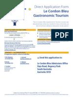 Le Cordon Bleu Master of Gastronomic Tourism Direct Application Form (v20130305)