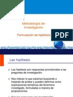 5 Formulación de hipótesis