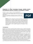 Integration of Urban Knowledge Through Visibility Studies and Pedestrian Behavior Analysis in Old Bazaar in Skopje -Upload