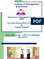 The Social Responsibility of Managers
